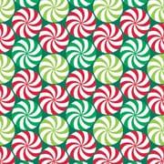 "Shamrock 24""W Peppermint Swirl Gift Wrap, Red/Green/White"