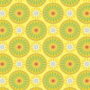 """Shamrock 24""""W Suzani Sunflowers Gift Wrap, Yellow/Green/Red"""