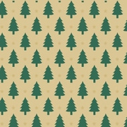 """Shamrock 24""""W Little Trees Kraft Gift Wrap"""