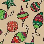 "Shamrock 24""W Gilded Ornaments Kraft Gift Wrap"