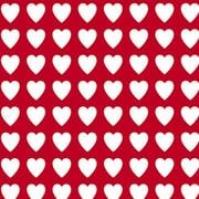 "Shamrock 24""W Valentines Gift Wrap, Red/White"