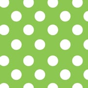"""Shamrock 24""""W Lime Sunny Dots Gift Wrap, White on Green"""