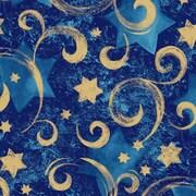 "Shamrock 24""W Star Chanukah Gift Wrap, Gold"