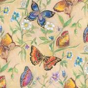 "Shamrock 24""W Butterflies Gift Wrap, Blue/Orange/Gold/Assorted"