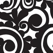 "Shamrock 24""W Bold Scroll Gift Wrap, Black/White"