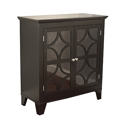 TMS Sydney Wood and Acrylic Cabinet; Black