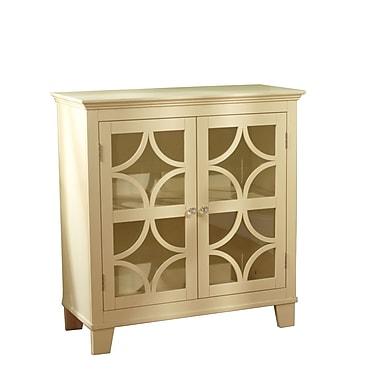 TMS Sydney Wood and Acrylic Cabinet, Ivory