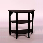 "TMS London 32"" x 32"" x 14"" Solid Wood/MDF 3-Tier Hall Console Table, Black"