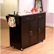 TMS Extra Large Kitchen Carts With Stainless Steel Top