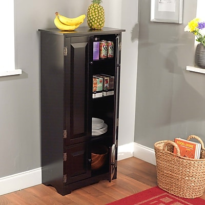 TMS Wood Tall Cabinet; Black (61888BLK)