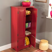TMS 4-Shelf Wood Tall Cabinet, Red (61888RED)