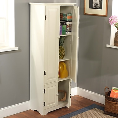TMS 3-Shelf Engineered Wood Extra Tall Cabinet, White(61895WHT)