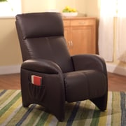 TMS Addin Faux Leather Vinyl Recliner, Chocolate