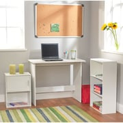 TMS Soho Study Set with Bookcase and Storage Cube, White (96603WHT)