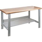 KLETON Workbench, Laminated Wood Top, Open Style, Lower Shelf