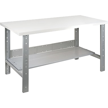 KLETON Workbench, Plastic Laminate Top, Open Style, Lower Shelf