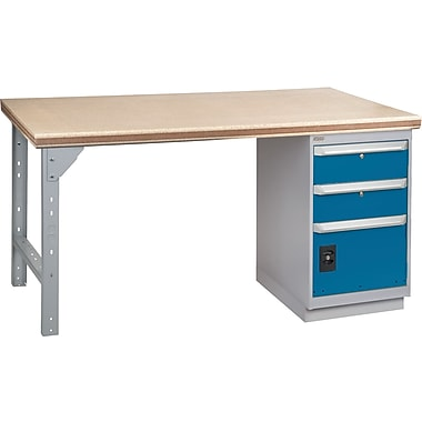 KLETON Workbench, Shop Top, 1 Pedestal, 2 Drawers & 1 Door