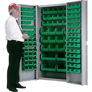 KLETON – Armoires à combinaison à portes creuses, 118 bacs, vert