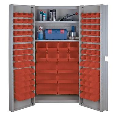 KLETON – Armoires à combinaison à portes creuses, 98 bacs, rouge