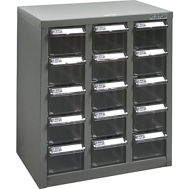 Kleton A8 Steel Parts Cabinets, 15 Polystyrene Drawers