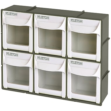 Kleton Heavy-Duty Tilt Bins, 6-Drawers