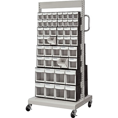 Kleton Mobile Tilt Bin Racks, Double Sided