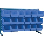 "Kleton Louvered Bench Bin Racks, 18 Bins, 10-7/8""L. x 5-1/2""W. x 5""H."