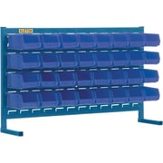 "Kleton Louvered Bench Bin Racks, 32 Bins, 7-3/8""L. x 4-1/8""W. x 3""H."
