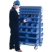 "Kleton Mobile Bin Racks, Double Sided, 36""W. x 24""D. x 63""H."