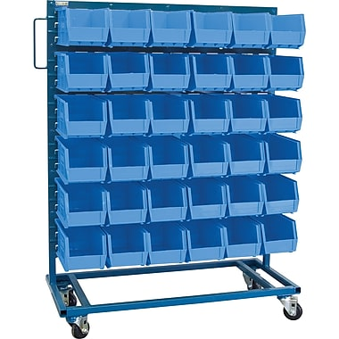 Kleton Mobile Bin Racks, Singled Sided, 36