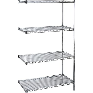 KLETON Chromate Wire Shelving, 4 Shelves, 14