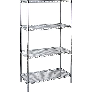 Kleton Chromate Wire Shelving, 4 Shelves, 18