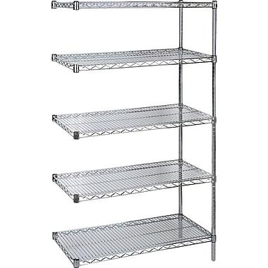 Kleton Chromate Wire Shelving, 5 Shelves, 48