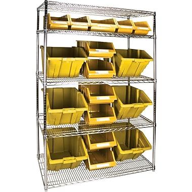 Kleton Wire Shelving Units With Storage Bins, 48