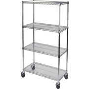 "Kleton Wire Shelf Carts, 4 Shelves, 36""D."