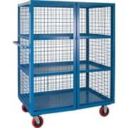 "Kleton Security Trucks, 3 Shelves, 6"" Polyurethane Caster, 32""W. x 75""L. x 62-1/2""H."