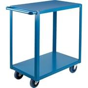 "KLETON Heavy-Duty Shelf Carts, 2 Shelves, Lip Down, 36""H."