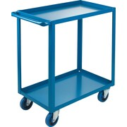 "KLETON Heavy-Duty Shelf Carts, 2 Shelves, Lip Up, 36""H."