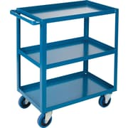 "KLETON Heavy-Duty Shelf Carts, 3 Shelves, Lip Up, 36""H."