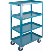 "KLETON Heavy-Duty Shelf Carts, 4 Shelves, Lip Up, 48""H."