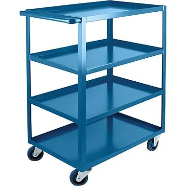 Kleton Heavy-Duty Shelf Carts, 4 Shelves, Lip Up, 48
