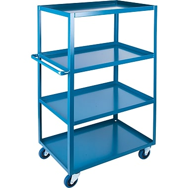 KLETON Heavy-Duty Shelf Carts, 4 Shelves, Lip Up, 61