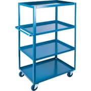 "KLETON Heavy-Duty Shelf Carts, 4 Shelves, Lip Up, 61""H."