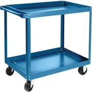 "KLETON Knocked-Down Shelf Carts, 2 Shelves, 5"" Polyolefin Casters, 36""H."