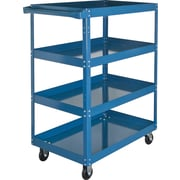 "KLETON Knocked-Down Shelf Carts, 4 Shelves, 5"" Polyolefin Casters, 48""H."
