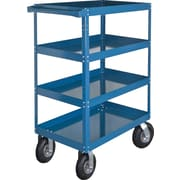 "KLETON Knocked-Down Shelf Carts, 4 Shelves, 8"" Pneumatic Casters, 65""H."