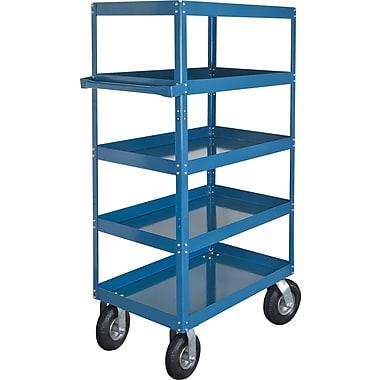Kleton Knocked-Down Shelf Carts, 5 Shelves, 8