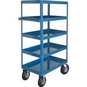 "KLETON Knocked-Down Shelf Carts, 5 Shelves, 8"" Pneumatic Casters, 65""H."