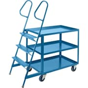KLETON Stock Picking Carts, 3 Shelves, 3 Steps