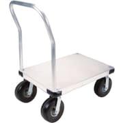 KLETON – Chariot à plateforme en aluminium, roulettes anticrevaison de 10 po, plateforme lisse